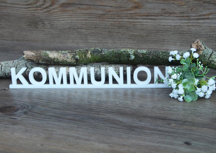 """Kommunion"" gelasert aus Acryl"
